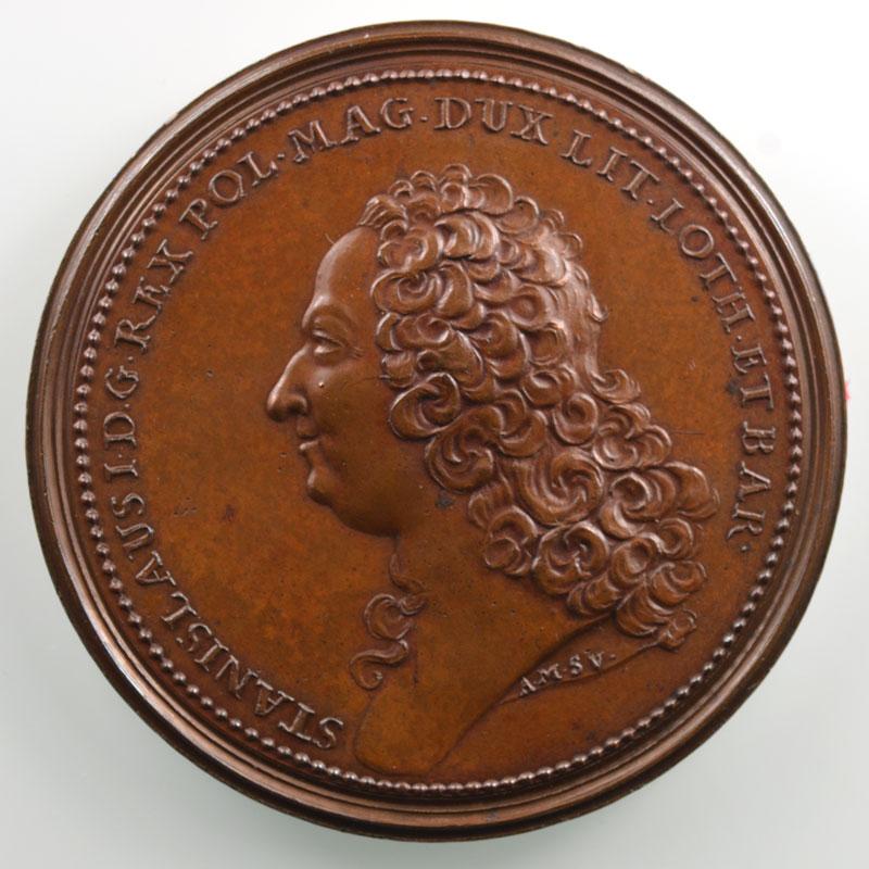 Anne-Marie de SAINT-URBAIN   Stanislas   Nancy 1755   bronze   50 mm    SUP