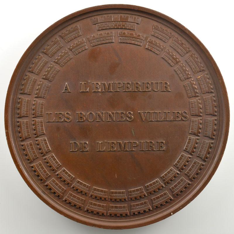 ANDRIEU   Baptême du Roi de Rome   1811   bronze   68 mm    SUP