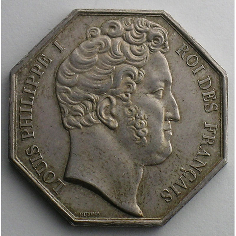 Clermont Ferrand Jeton Octogonal En Argent Louis Philippe I ...