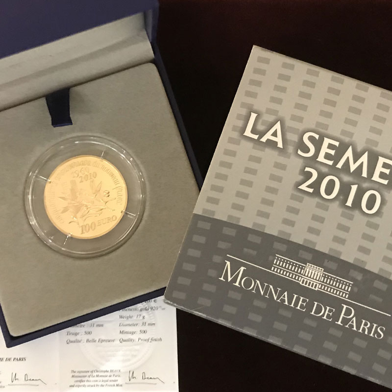 100 €   2010   50° anniversaire du nouveau franc 1960-2010    BE