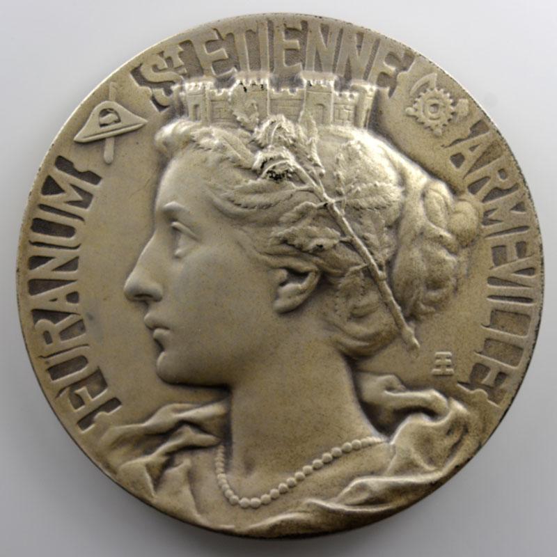 Exbrayat Etienne   Médaille en argent 68mm   Centenaire de la Caisse d'Epargne de Saint-Etienne   1833-1933    SUP/FDC