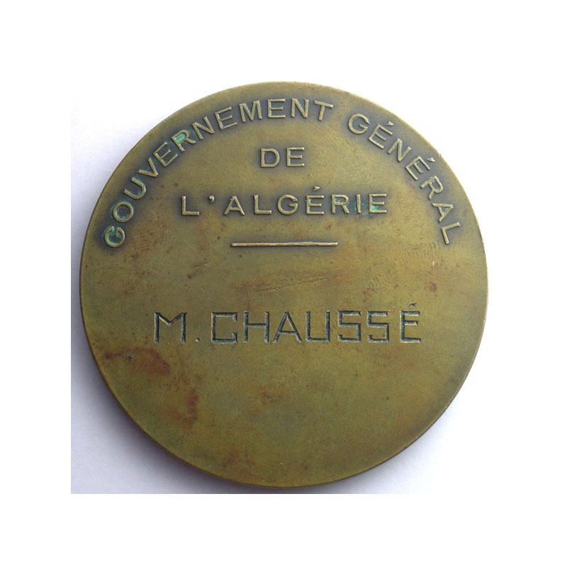 G. Beguet   Centenaire de l'Algérie   Médaille en bronze   60mm    1930    SUP