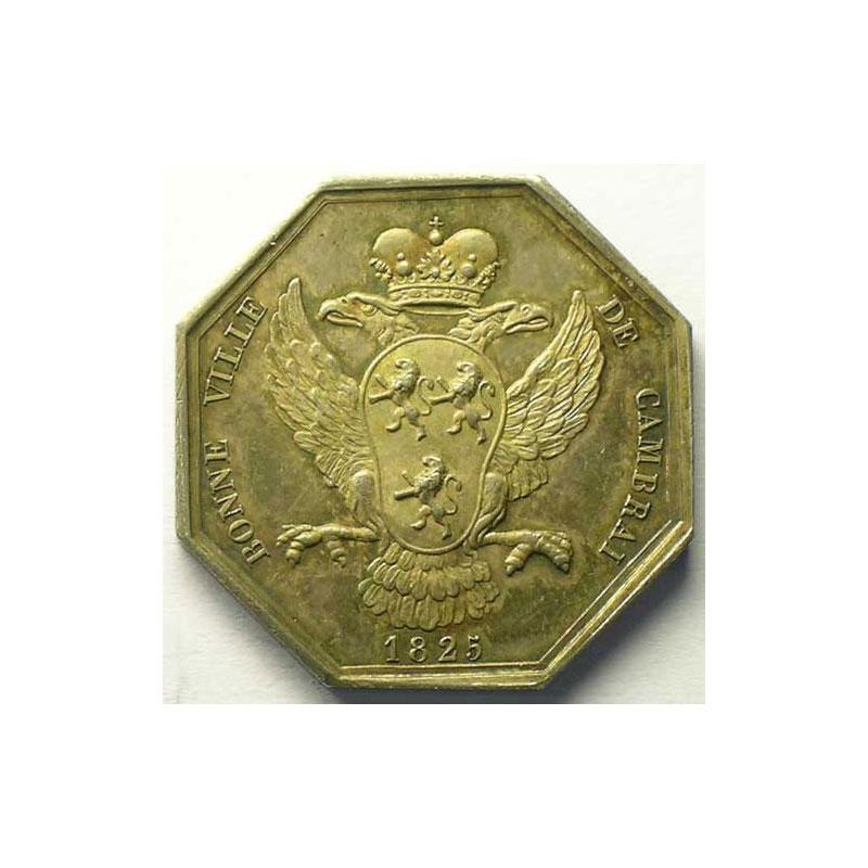 jeton octogonal en argent   Charles X   1825    SUP/FDC