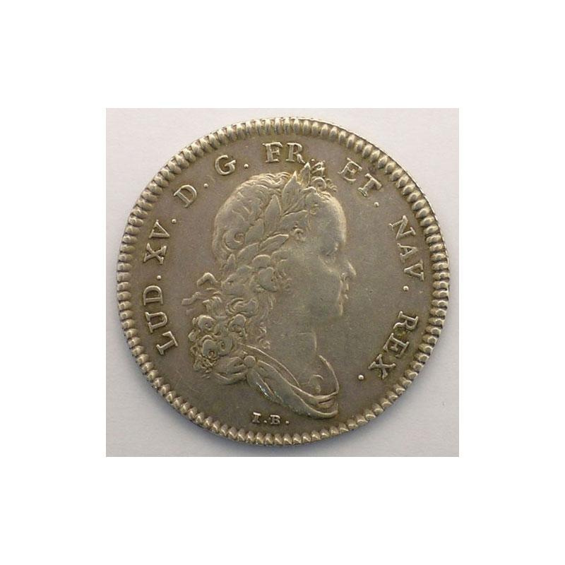 jeton rond en argent   Louis XV   1715    TTB