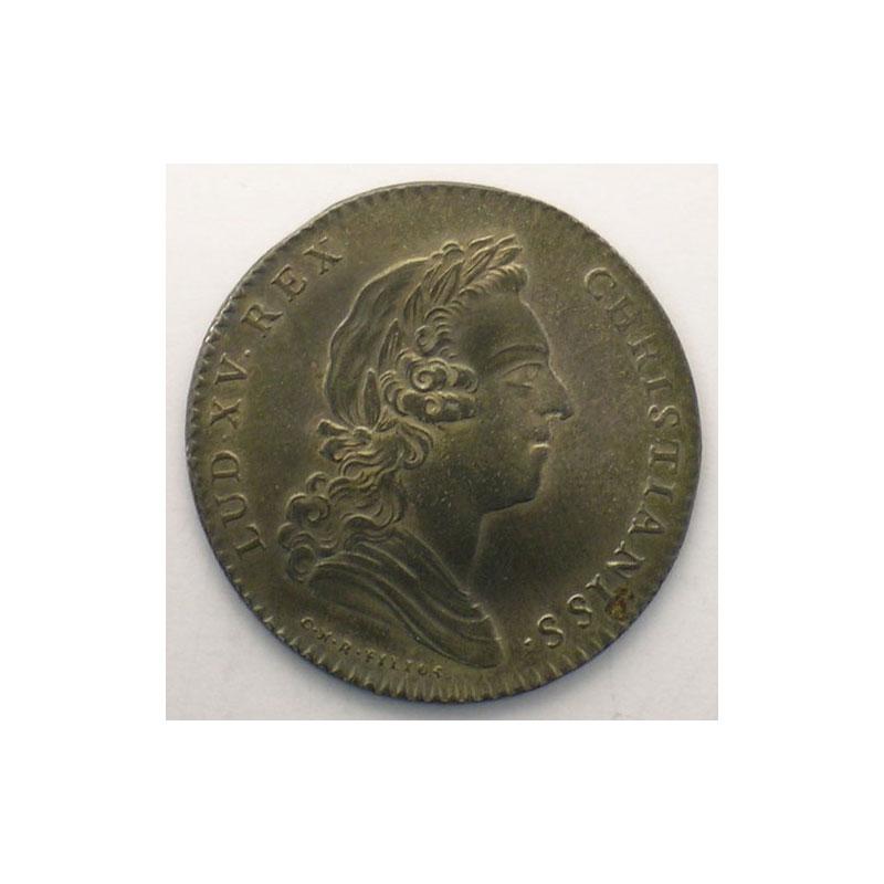 jeton rond en argent   Louis XV   1731    SUP