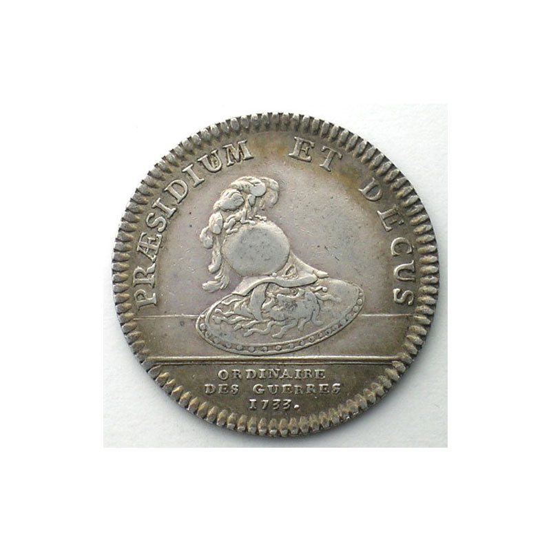 jeton rond en argent   Louis XV   1733    TTB/TTB+