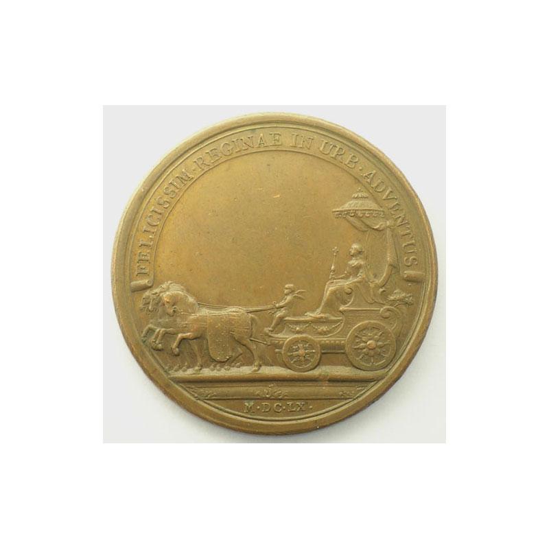 MAUGER   Entrée de la Reine à Paris   bronze   41mm    SUP