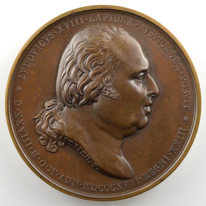 ANDRIEU   Bronze   50mm   1817   Rétablissement de la Statue d'Henri IV  28 octobre 1817    SUP/FDC