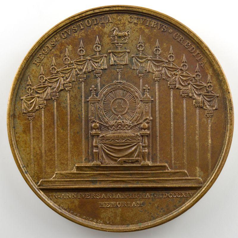 ANDRIEU/DUBOIS   Bronze   50mm   1815   1er Anniversaire de la première entrée du Roi à Paris le 3 mai 1814    SUP