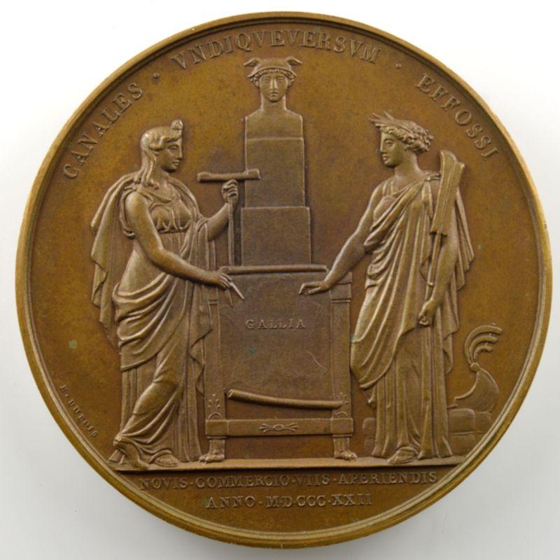 ANDRIEU/DUBOIS   Bronze   51mm   Creusement des canaux 1822    SUP/FDC