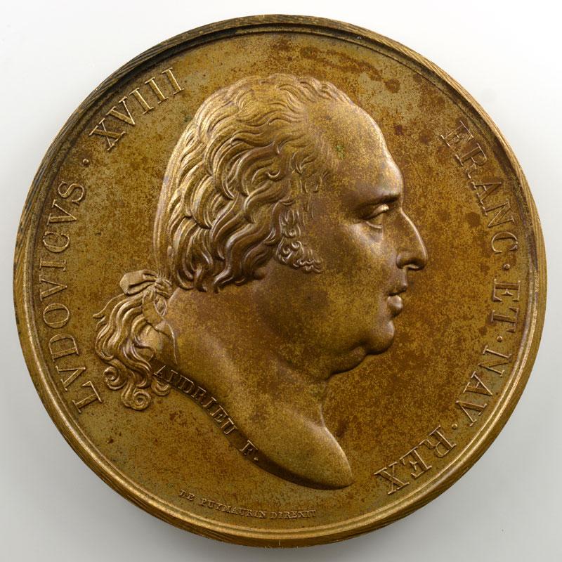 Andrieu/Galle   Bronze   50.5mm   1817   Hommage rendu aux cendres royales profanées en 1793    FDC