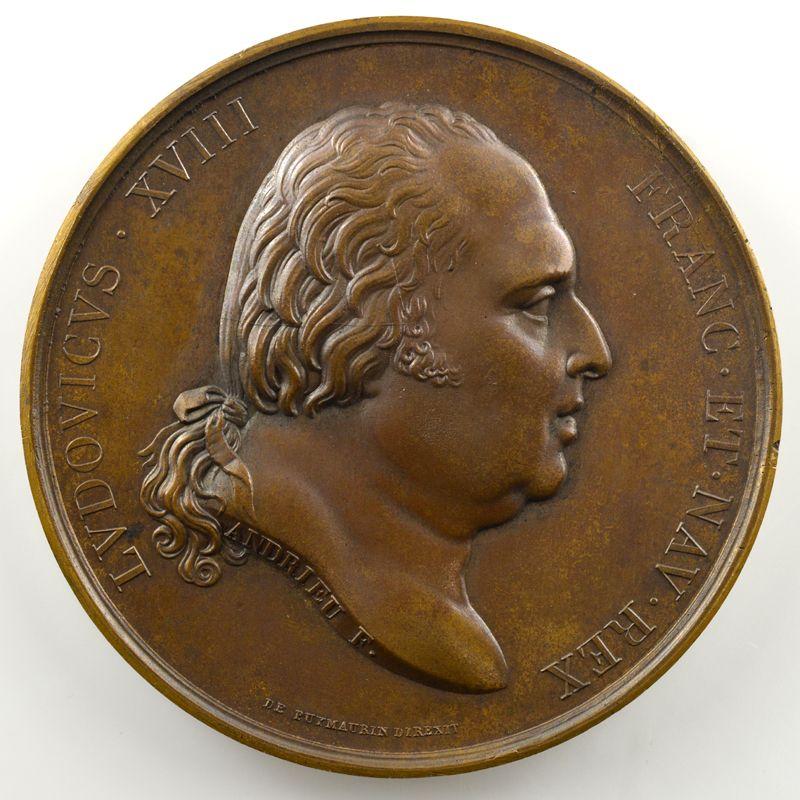 Andrieu/Gatteaux   Bronze   51mm   1815   Accession à la Sainte Alliance    SUP