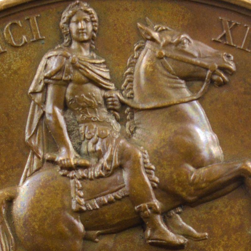 ANDRIEU/GAYRARD   Bronze   50mm   1822   Rétablissement de la Statue de Louis XIV, placedes Victoires  25 août 1822    SUP/FDC