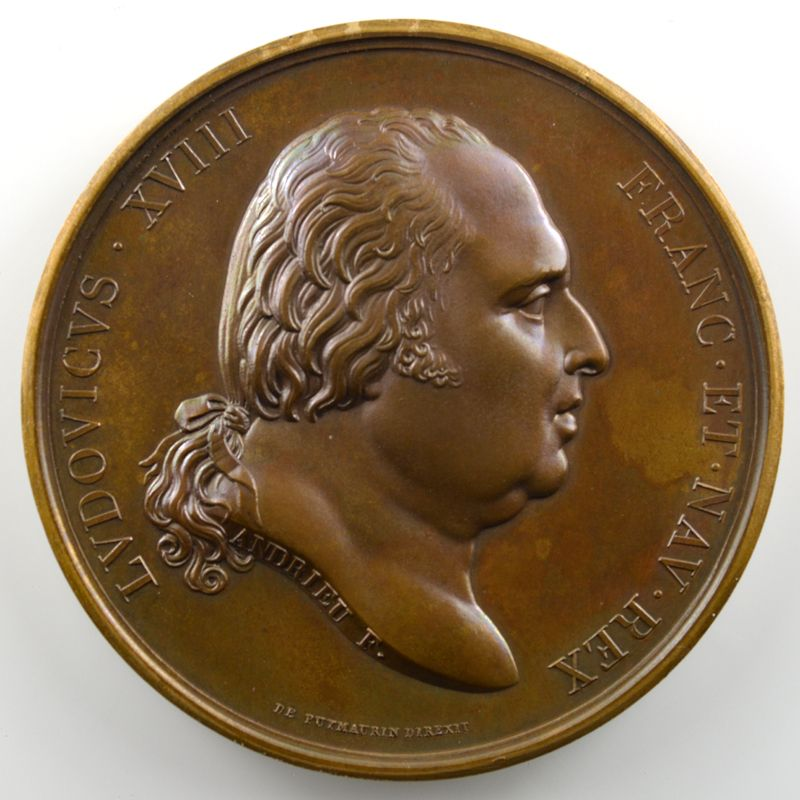 ANDRIEU/MICHAUT   Bronze   51mm   Rétablissement de la Statue d'Henri IV 28 octobre 1817    SUP/FDC