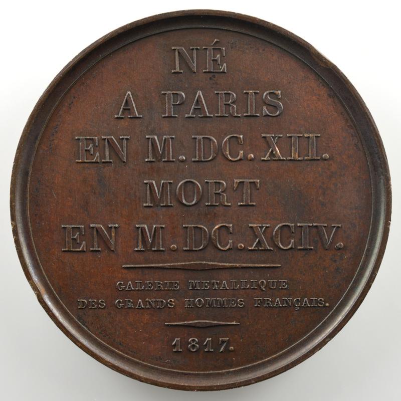 Antoine Arnauld  (Paris 1612 - 1694)   Médaille en bronze   41mm   1817    SUP