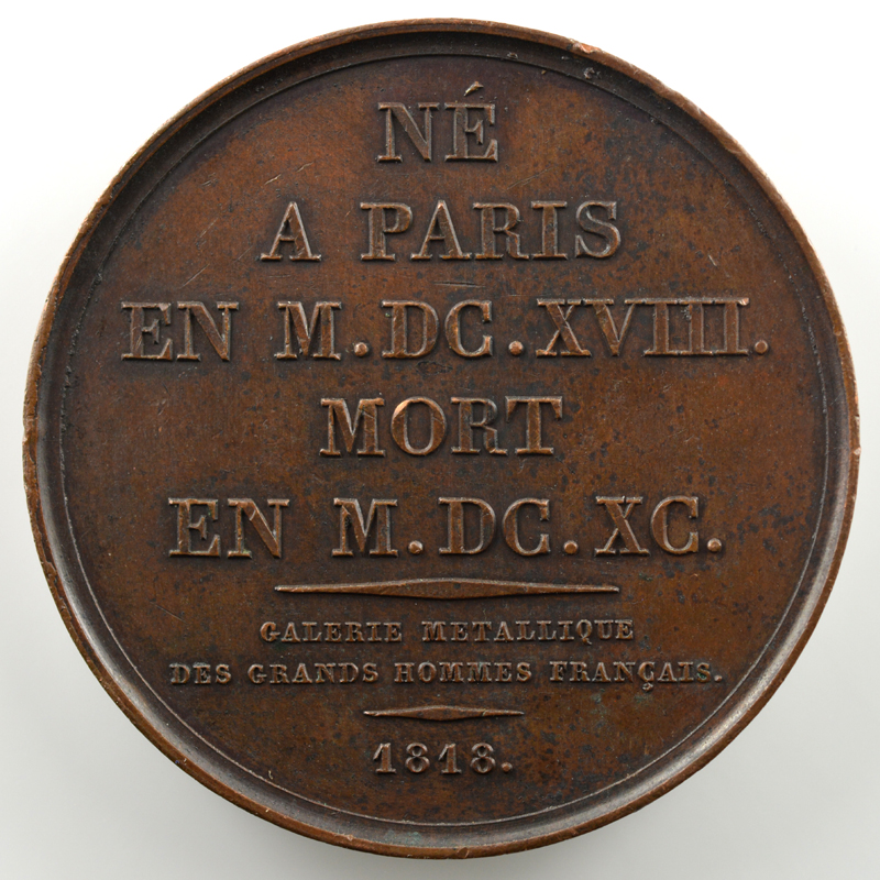 Charles Le Brun  (Paris 1618 - 1690)   Médaille en bronze   41mm   1818    SUP