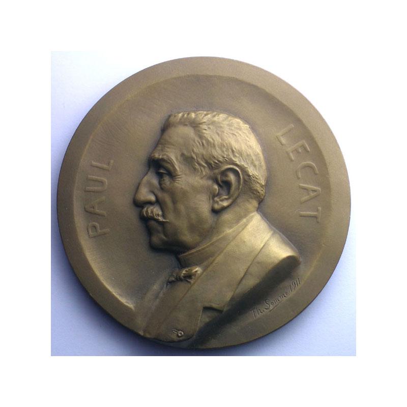 SOMME Th.   Médaille en bronze  70mm   Paquebot Paul Lecat   La Ciotat   19 mars 1911    SUP