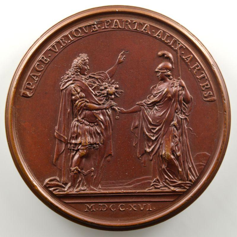 Ferdinand de Saint-Urbain   Médaille en bronze  44mm   Philippe d'Orléans - La protection accordée aux arts  1716 - première légende    SUP/FDC