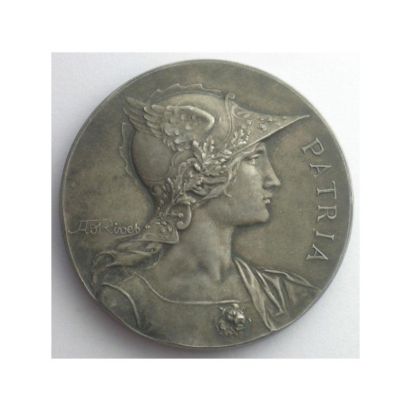La Société du Tir Sétifien   Médaille en bronze argenté  41mm    SUP