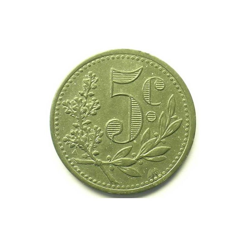 Lec.123   5 Centimes   1917 (Essai) zinc    SUP