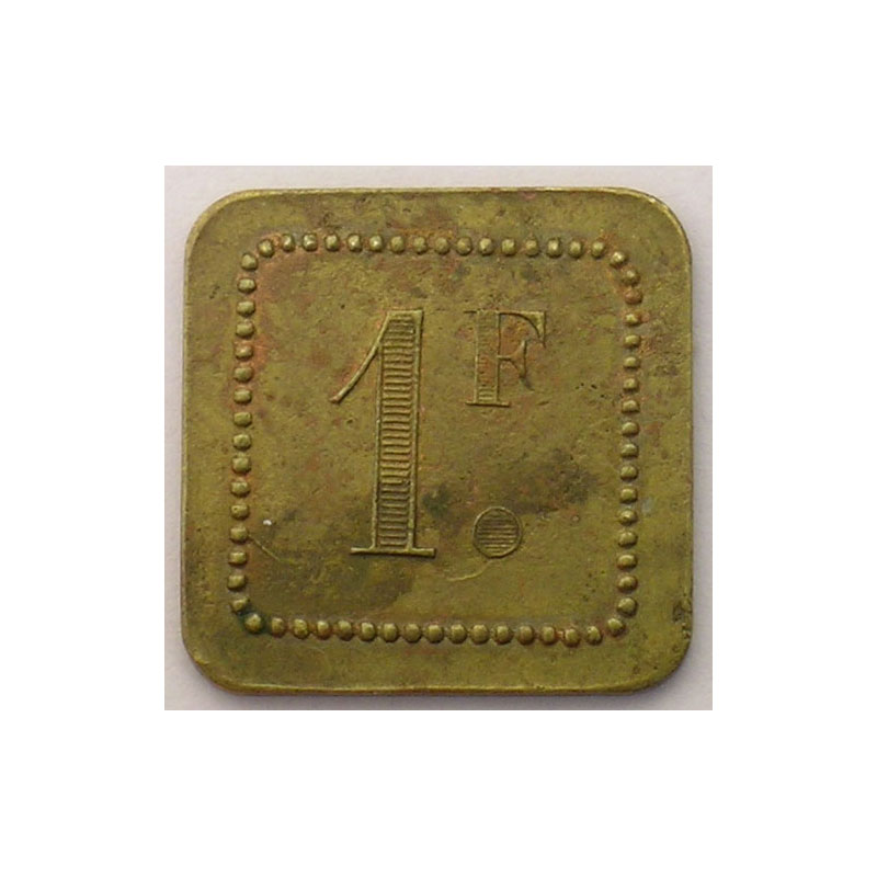 Elie 150.2   1 Franc   Lt, carré coins arrondis  21mm    TTB