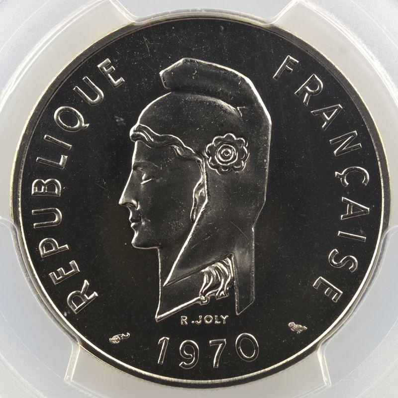 Lec.70   100 Francs   1970 Essai    PCGS-SP68    FDC exceptionnel