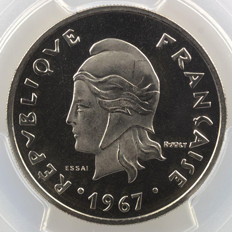 Lec.88   20 Francs   1967 Essai    PCGS-SP67    FDC
