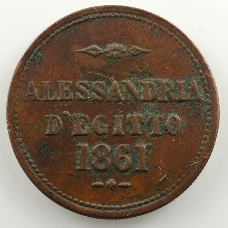 Alessandria d'Egitto   jeton en cuivre  27mm   T. G. Rodocanachi e Figli   1861    TB+/TTB