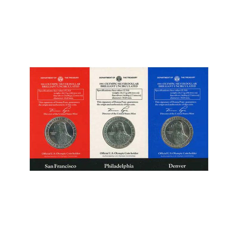 1 Dollar   Jeux Olympiques de Los Angeles   1983 S, P, D,     FDC