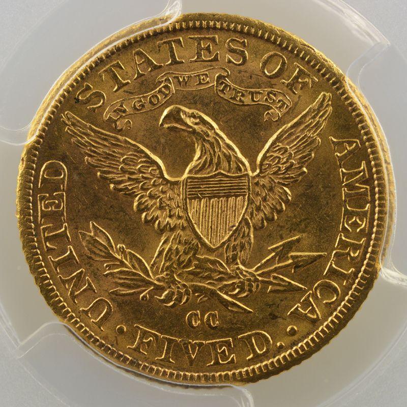 Five D.   1891 CC  (Carson City)   Liberty Head    PCGS-MS63    SUP/FDC