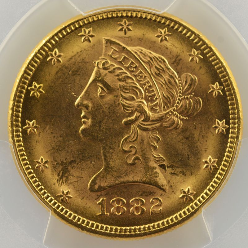 Ten D.   1882 (Philadelphie)   Liberty Head    PCGS-MS63    SUP/FDC