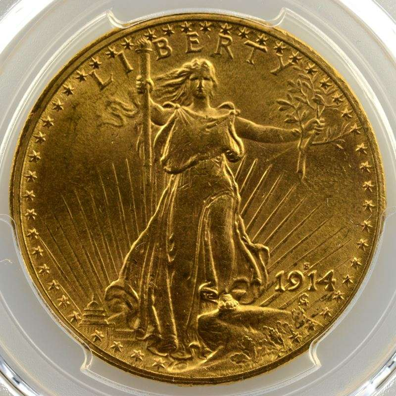 Twenty Dollars   1914 S (San Francisco)    PCGS-MS63    SUP/FDC