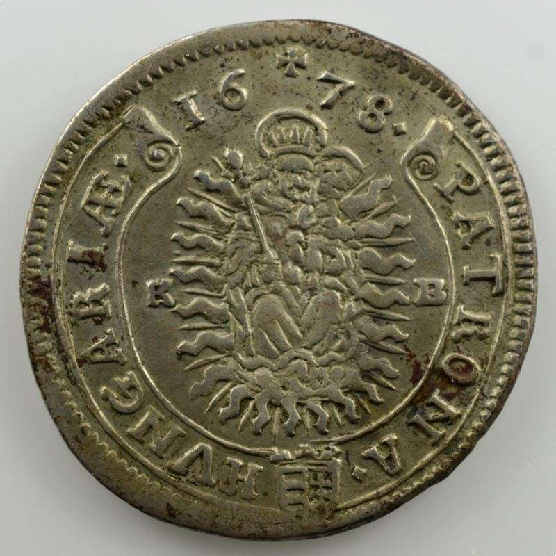 15 Krajczar  1678 KB (Kremnitz)    TTB+
