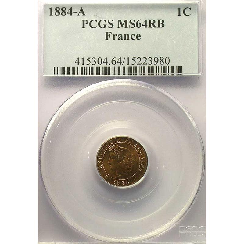 1884 A  (Paris)    PCGS-MS64RB    pr.FDC