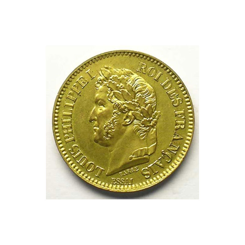 1842/0   Essai en bronze doré    SUP