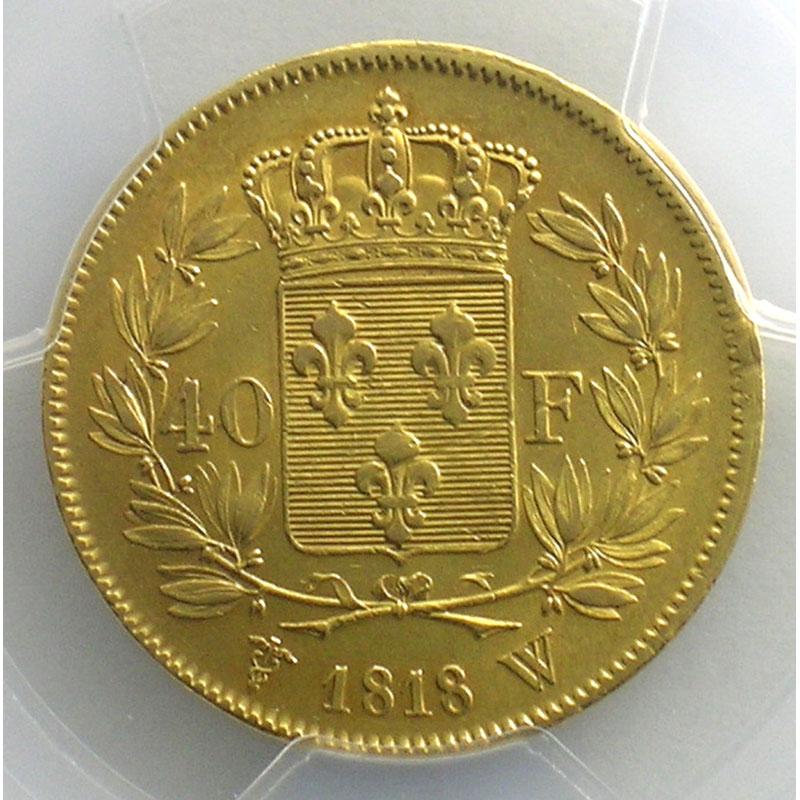 1818 W  (Lille)    PCGS-AU58    SUP