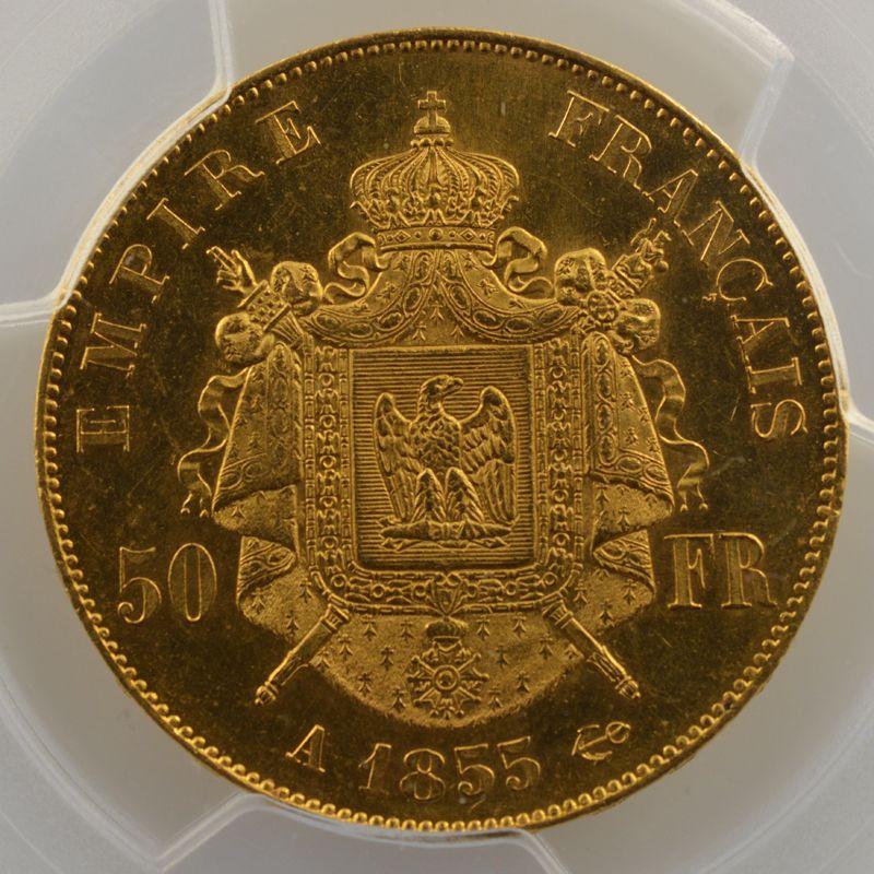 1855 A  (Paris)    PCGS-MS63    SUP/FDC