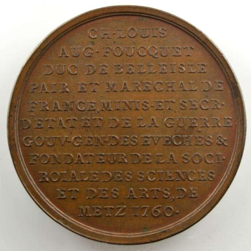 JC Roëttiers   Ch. Louis Aug. Foucquet   Médaille en bronze 48mm   1760    SUP/FDC