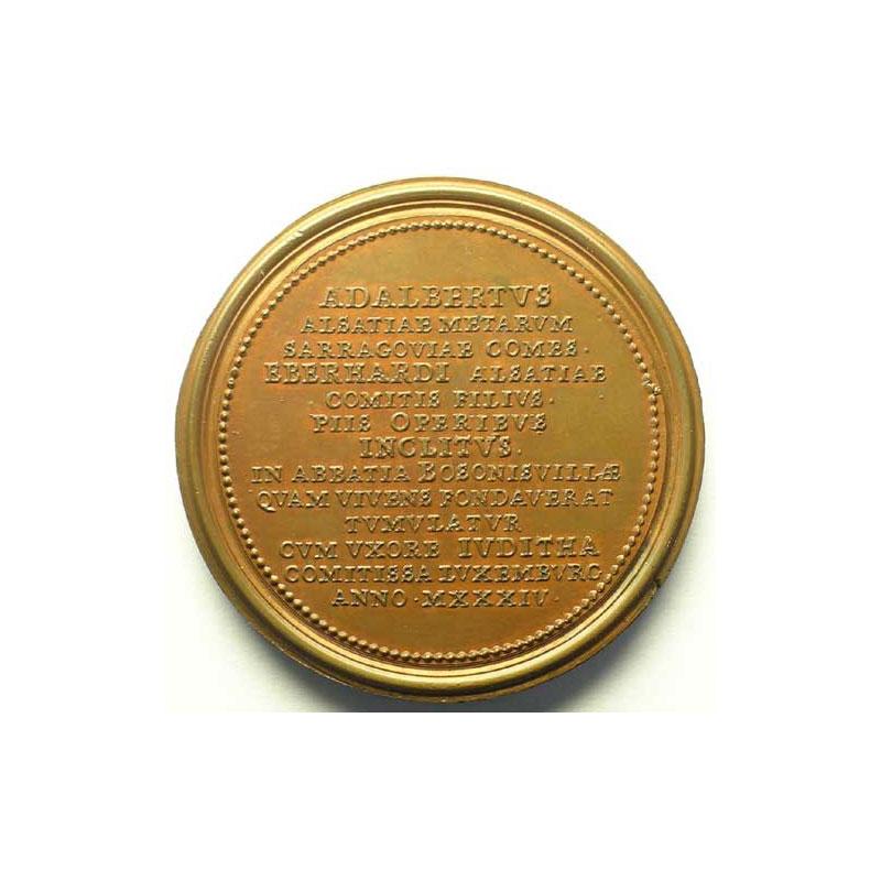 Adalbert   bronze   47 mm    TTB+/SUP