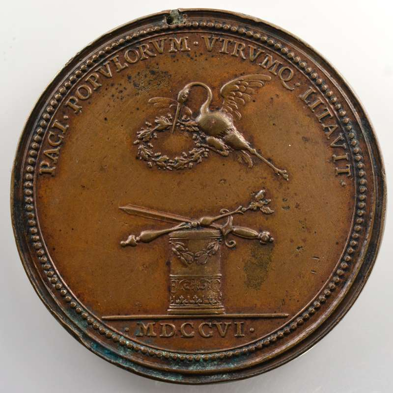 Ferdinand de SAINT-URBAIN   la Neutralité   1706   bronze   56mm    TTB