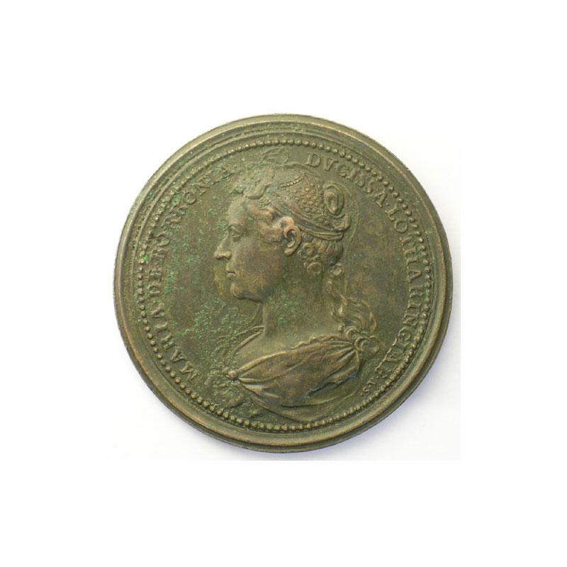 Jean II d'Anjou   bronze   46 mm    TTB corrosion au revers