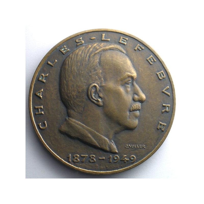 MULLER   Charles Lefèbvre, président des Cargos algériens 1878-1949   1952   bronze   68mm    SUP/FDC