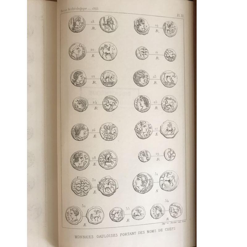 Revue Archéologique   année 1866   2 tomes