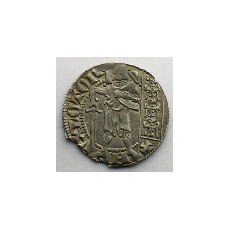 Photo numismatique  Monnaies Monnaies lorraines Duché de Lorraine Ferri IV   (1312-1329) Quart de Gros dit Spadin   Nancy    TTB+/SUP