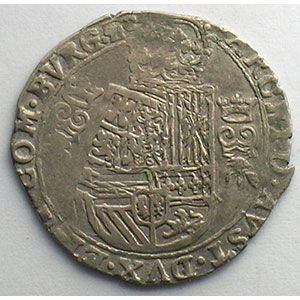 1/16 Patagon   Philippe IV (1621-1665)   date illisible   Dôle    TB+