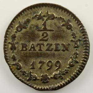 1/2 Batzen   1799    TTB+