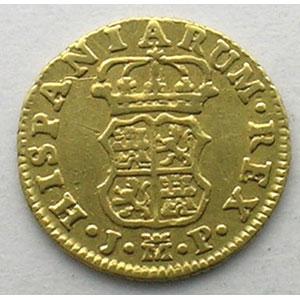 1/2 Escudo   1760 JP  (Madrid)    TB+