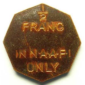 1/2 Franc   1944    SUP