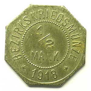 1/2 Mark   1918  Fe    TTB+/SUP