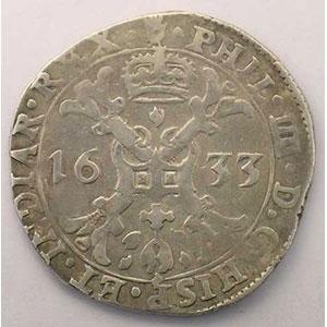 1/2 Patagon   Philippe IV (1621-1665)   1633 Anvers    TB+/TTB